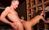 Oldje 424266 Members Club Anita Has A Great Body, Tanned And Firm, A Very Good Fuck Doll. At The Spa She Stumbles Upon The Naked Oldje Whose Wrinkly And Old Body Is Exciting Her To Maximum. The Old Man Is So Embarrassed For Being Seen Naked By Such A Young Lady..But H