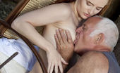 Oldje Horny Again! This Amazing Red Head Is So Horny Again, That She Commands Our Lucky Oldje To Suck Her Pussy. What Could He Do, Refuse This Hot Young Lady? The Old Man Knows That She Will Bring Him Heavenly Moments… So He Licks Her Fresh Pink Pussy Unt
