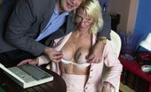 Easy Elders Mature Blondie Rides Her Young Bosses Hard Cock