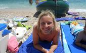 Dirty Wives Exposed Lovely Blonde Wife Goes Topless On Vacation