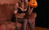 Cuties In Tights Uber-Sexy Halloween Witch In Sheer Black Tights