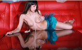 Skokoff Lara Brunette Babe Lara Spreading Her Long Legs On Mirror Table