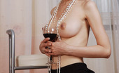 Skokoff Leila Vintage Babe Leila Undressing, Drinking Vine And Getting Hotter And Hotter