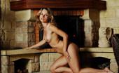 Skokoff Natashka Stunning Blonde Babe Natashka Posing At The Countryside House Near The Fireplace