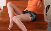 Skokoff Arina Skinny Stunning Brunette Teen Posing Nude On The Stairway