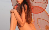 Skokoff Frances Hot Stunning Girl Posing Naked With Butterfly Wings
