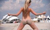 Skokoff Violetta Dirty Blond Teen Bitch Going Wild As She Enjoys Sand Over Her Body