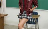 Innocent High Heather Vahn Adorable Latina Teen Schoolgirl In Knee Highs Rides Her Teachers Cock