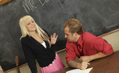 Innocent High Briana Blair Hot Blonde Babe Gets On Her Knees And Sucks Off Her Teacher For An A