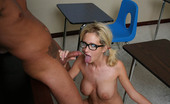 Innocent High Hillary Scott Nice Nerdy Blonde Schoolgirl Gets Fucked All Around Classroom