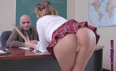 Innocent High Angel Valentine Sweet Teen Is Bent Over Desk And Opens Her Pussy Wide For Her Teachers Cock