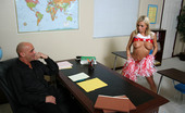 Innocent High Jaelyn Fox Cute Blonde Student Pulls Her Panties Down And Shows Her Teacher Her Nice