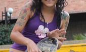 Oye Loca Diana Delgado Adorable Little Latina Gets Fucked And Facialized Outdoors