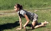 Special Exercises Kinky Coach Walks Naked Gymnast On Leash