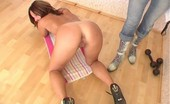 Special Exercises Submissive Flexigirl Gets Stripped And Kneels Down