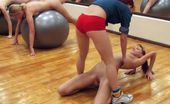 Special Exercises Naked Schoolgirls Made To Work With Fitballs