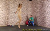 Special Exercises Fitness Instructor Breaking And Exciting A Flexy Babe
