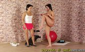Special Exercises 432117 Big-Bubbied Fleshy Slave Of A Cruel Sport Mistress