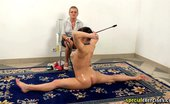 Special Exercises Mature Yoga Mistress Sex-Punishes A Good Trainee