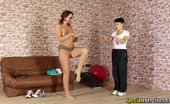 Special Exercises Big-Boobed Gymnast Exercised By A Lusty Lesdom Milf