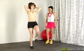 Special Exercises Sport Dominatrix Trains A Nude Big-Titted Slave