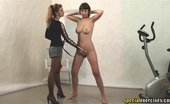 Special Exercises Gorgeous Sport Mistress And Her Busty Jumping Slave