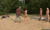 Special Exercises Three Nude Slaves For A Crazy Sports Master