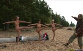 Special Exercises 432391 Three Nude Slaves For A Crazy Sports Master