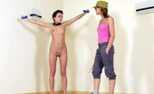 Special Exercises Trainer Exercises A Nude Gymnast In Obedience