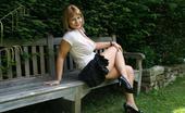 Bedfordshire Blonde Busty British Amateur MILF Flashing Outside