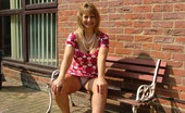Bedfordshire Blonde British Milf Wife Outside In Upskirt