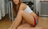 Knocked Up Nina 434364 A Pregnant Teen Babe Shows Off Her Swollen Tits