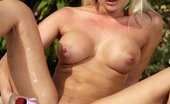 In Focus Girls Gina Pool Toys Poolside Blonde Gets Pussy Wet From Gentle Dildo Stroking