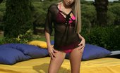 In Focus Girls Celine Satisfied Outdoors Busty Blonde Strips Spreads And Dildos Pink Twat Outside