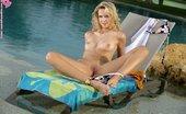 In Focus Girls Aneta Sunshine Dildoing Tempting Blonde Sheds Bikini And Dildos Wet Twat In Pool
