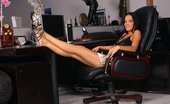 In Focus Girls Esmeralda Admisistrative Dildoer Gorgeous Brunette Strips And Dildos Shaved Pussy In Chair