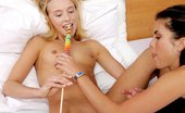 In Focus Girls Hanna Lollipop Lust Lithe Cutie Nudes And Takes Lollipop In Tight Twat In Bed