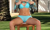 In Focus Girls Sharon Sweaty Toying Luscious Blonde Siren Strips And Dildos Pink Twat In Garden