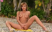 In Focus Girls Nevena Sizzling Smoker Sizzling Hottie Strips And Fingers Pink Snatch Outdoors