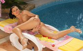 In Focus Girls Lulu Poolside Pleasurer Bronzing Hottie Works Lotion Bottle Into Her Smooth Pussy