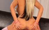 In Focus Girls Adrianna Stockinged Stunner Dazzling Vixen Seductively Strips And Dildos Snatch On Couch