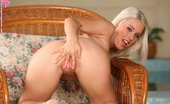 In Focus Girls Kady Aroused Cutie Platinum Blonde Stunner Spreads And Dildos Quim In Chair