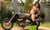 In Focus Girls Sascha Soapy Stroker Busty Teen Hottie Gets Soaking Wet And Strips On Motorcycle