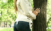 Jeans And Panties Jeans And Panties All Natural Beauty Takes Off Her Tight Denim Jeans In The Woods