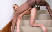 I Like Em White Alana Evans & Jon Jon Pretty White Girl Riding An Ebony Cock On Her Stair Case