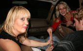 Over 40 Hand Jobs O40 Pics 22 Milf Roberta And Teen JC Tag Team A Cock By Stroking And Teaaing His Cock In Public. The Two Babes Take Turns Milking His Cock When He Finally Cums A Huge Blast Of Jizm.