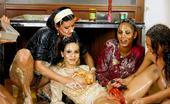 Pornstars At Home Messy Lesbians Sexy Naughty Lesbians At Home Have Messy Food Fight Sex