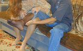 Nylon Passion Pantyhose Couple Fucks Both In Pantyhose Hardcore Pantyhose Fetish Fan Redhead Luiza Blowjobs Her Pantyhosed Friend And Fucks Him