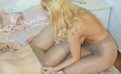 Nylon Passion 442637 Pantyhose Fetish Lesbian Cunnilingus Pretty Pantyhose Lesbians Blonde Sheril And Brunette Angelika Lick Pantyhosed Pussy And Enjoy Fetish Sex