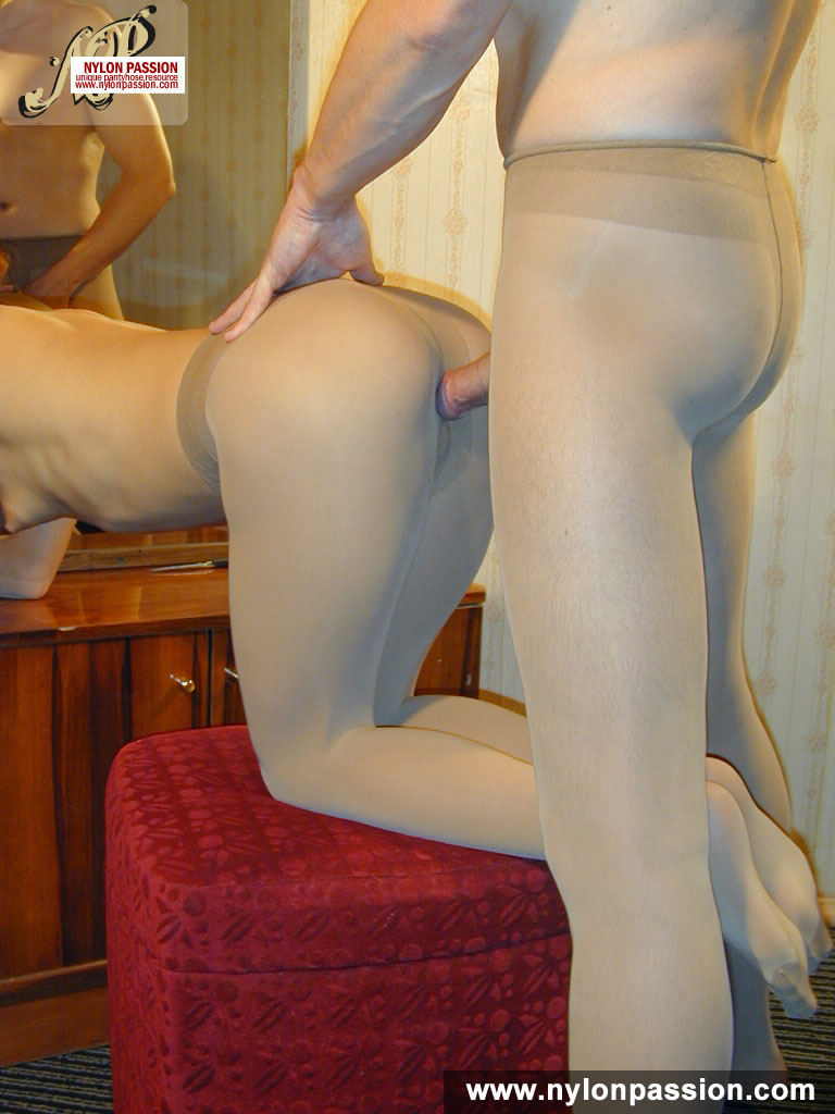 Pantyhose couple both suck Milf! Emma